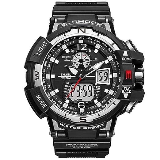 ETOWS® Reloj Deportivo Militar Deportivo para Hombre 50 m Impermeable Relojes para Hombre de Goma
