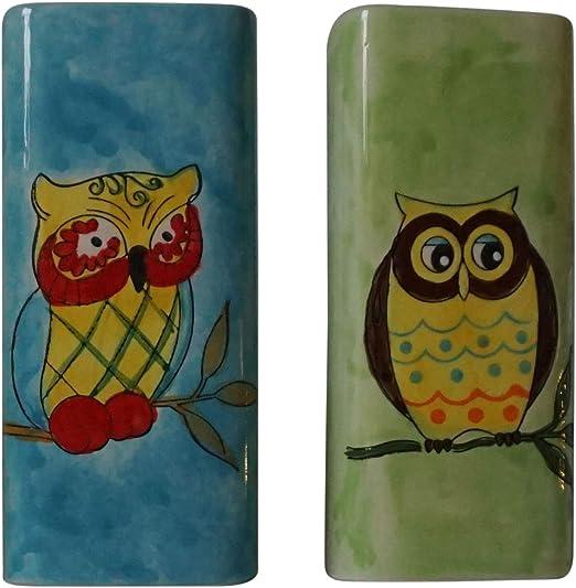 Better Homes and Gardens Owl Shower Hooks Color Greenish Blue 12 Hooks per Box