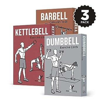 Amazon.com: NewMe - Juego de 3 tarjetas de ejercicio de ...