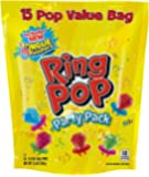 Ring Pops Individually Wrapped Bulk Variety Party Pack - 15 Count (Pack of 1) Candy Lollipop Suckers w/ Assorted Flavors