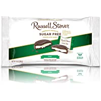 Russell Stover Sugar-Free Mint Patties, 10 Ounce Laydown Bag, Sugar-Free Candy, Individually Wrapped Mint Chocolate Covered Candy, Sweetened with Stevia