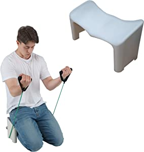 (OTZRO PP) Modern Ergonomic Meditation Bench,Perfect Kneeling Stool for Back Pain Relief Product | Lightweight and Portable Non-Slip and Hip-Shape Seatrest Design.No.1 Posture Support. (Fixed Type)