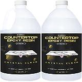 Epoxy Resin for Countertop - 2 Gallon kit - UV Resistant Crystal Clear Epoxy Resin Kit - 1:1 Ratio for Clear Coating Wood, Ta