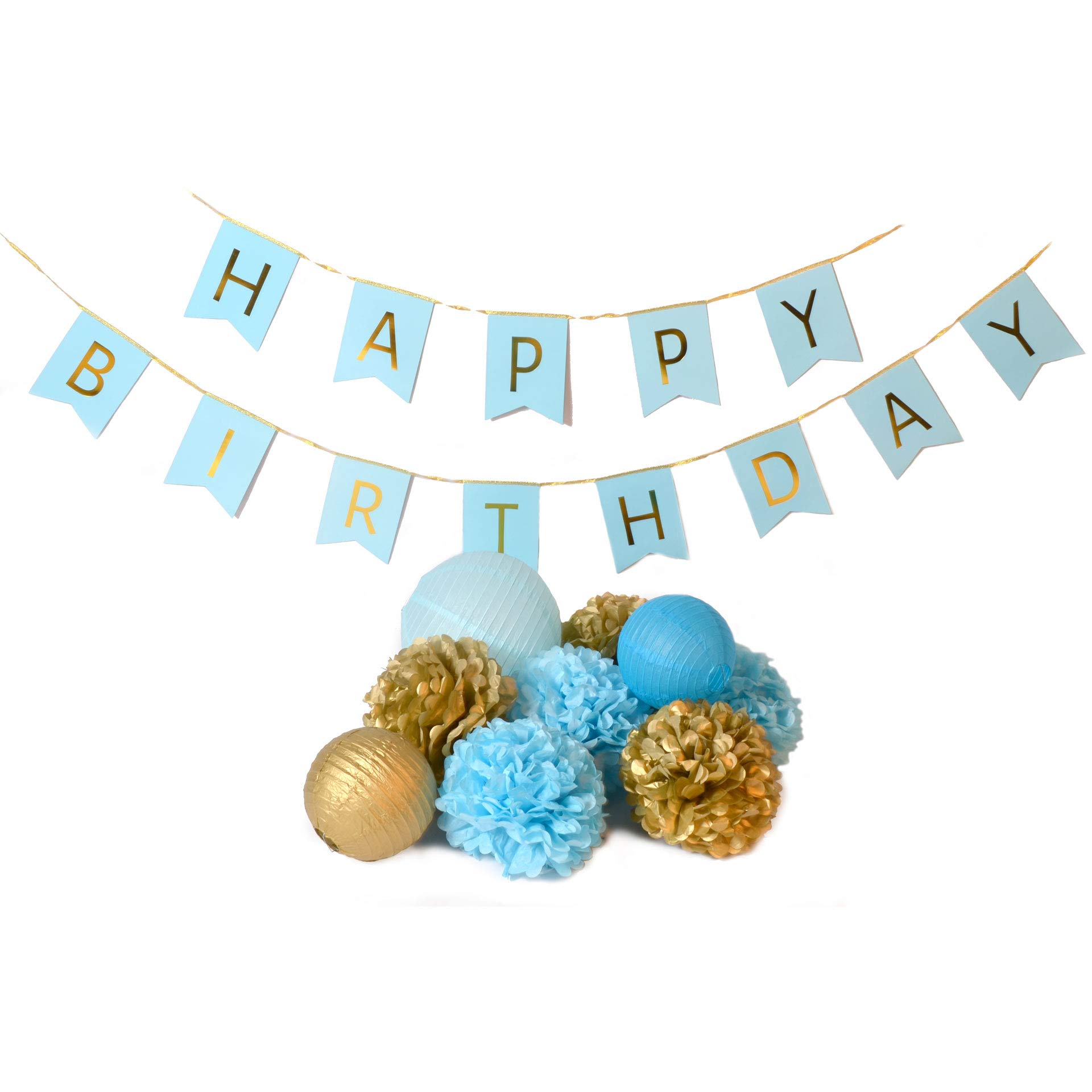 Shindigz Blue Happy Birthday Banner Kit