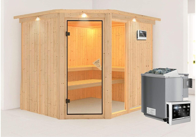 Sparset Unbekannt Karibu 9 kW Saunaofen inkl Steuerger/ät Modern