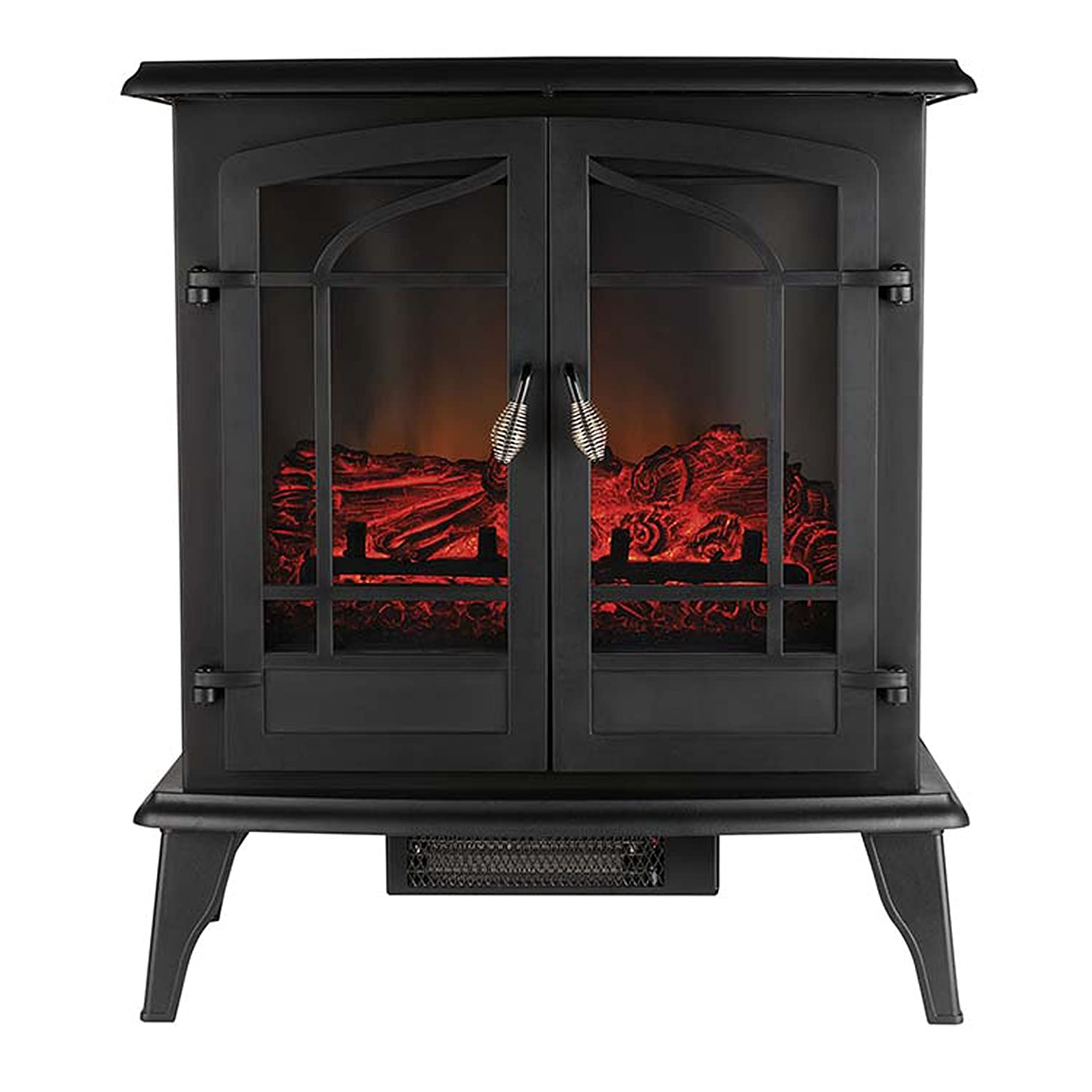 Beldray EH0985 Alcudia Panoramic Electric Stove with Led Flame Effect, 1500 W, 25