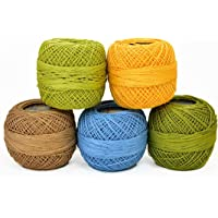 ChicTheDecor Crochet Cotton Thread Yarn for Knitting and Craft Making,Combo Pack (Pack of 5)