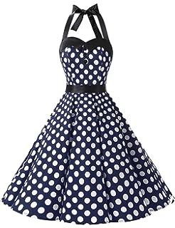 f3b9b1996ff Dressystar Vintage Polka Dot Retro Cocktail Prom Dresses 50 s 60 s Rockabilly  Bandage