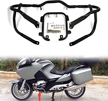 Highway Front /& Rear Engine Guard Crash Bars Silver For BMW R1200RT 2014-2018
