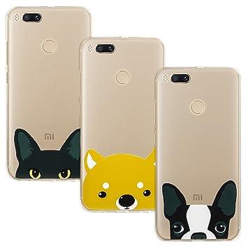 [3 Pack] Xiaomi Mi A1 Funda, EUGO Silicona TPU Blanda Ultrafina Carcasa Cover Case Anti Rasguños Anti Choque Caja para Xiaomi Mi A1, Modelo 1