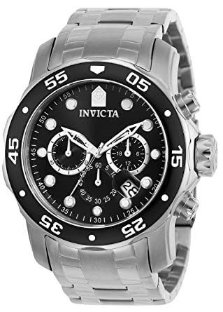 (CERTIFIED REFURBISHED) Invicta Pro Diver Chronograph Black Dial Men's Watch - 69 Men at amazon
