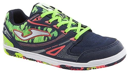 JOMA Sala MAX Jr Zapatos de Futsal, Niñas, Azul (Navy), 37