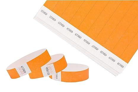 Cintapunto® - Tyvek pulseras 1000 unidades 1,9 cm, Pulseras para eventos 1000