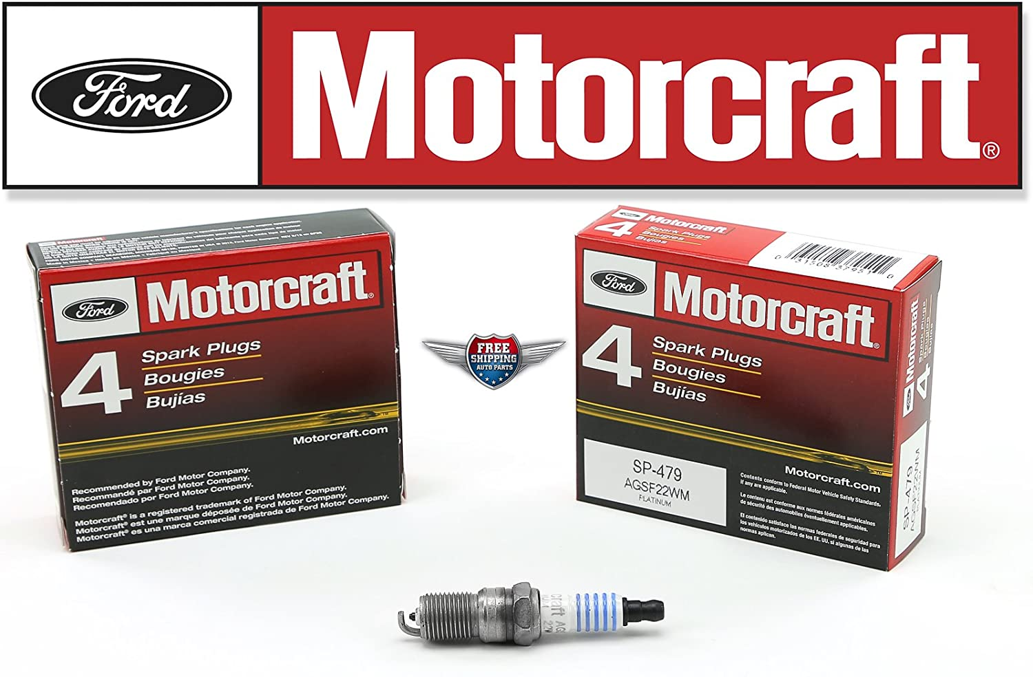 Amazon.com: Pack of 96 Genuine Motorcraft Spark Plug SP-479 AGSF22WM: Automotive
