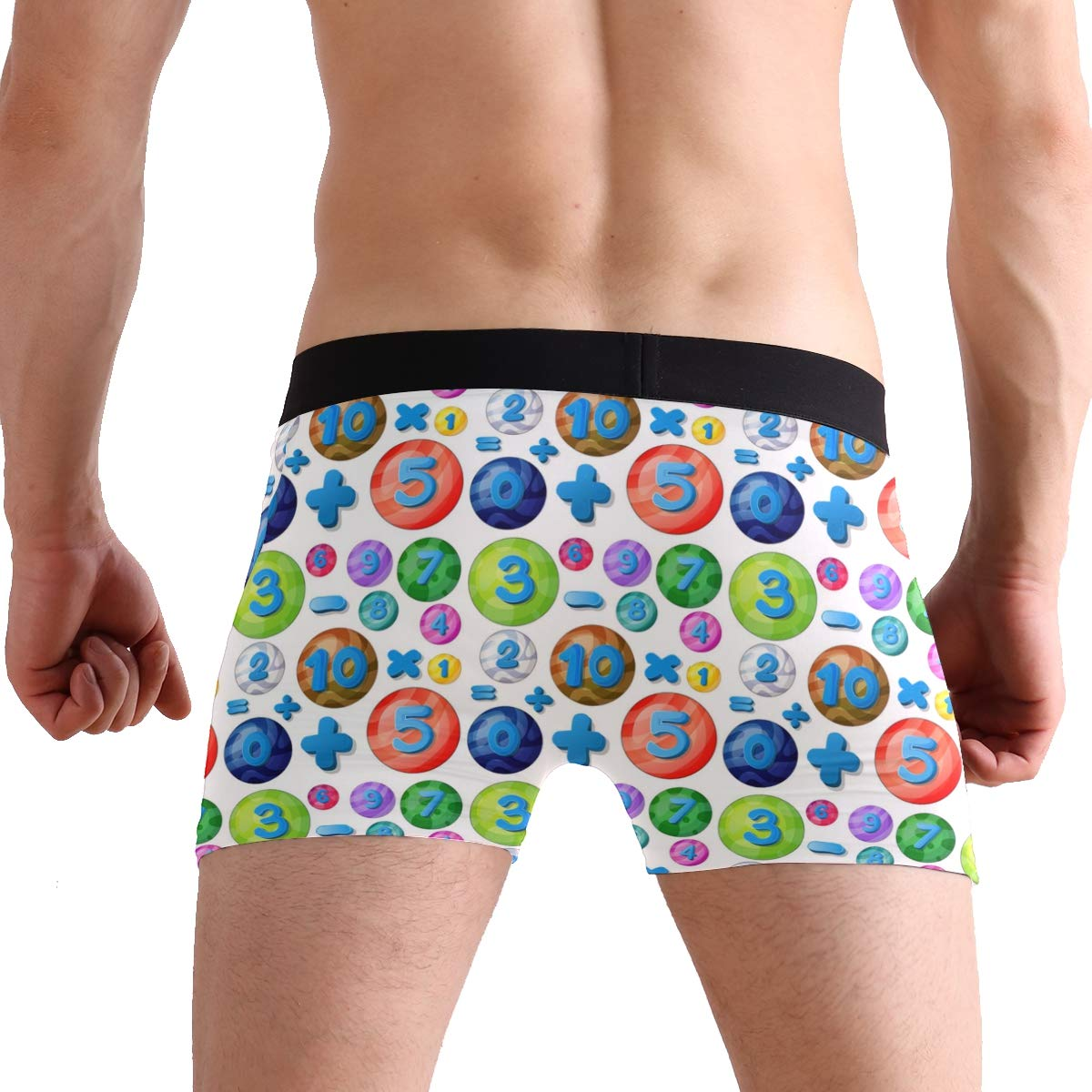 Charlley Lee Mens Soft Breathable Colorful Math Balancing Equations Underwear Boxer Briefs
