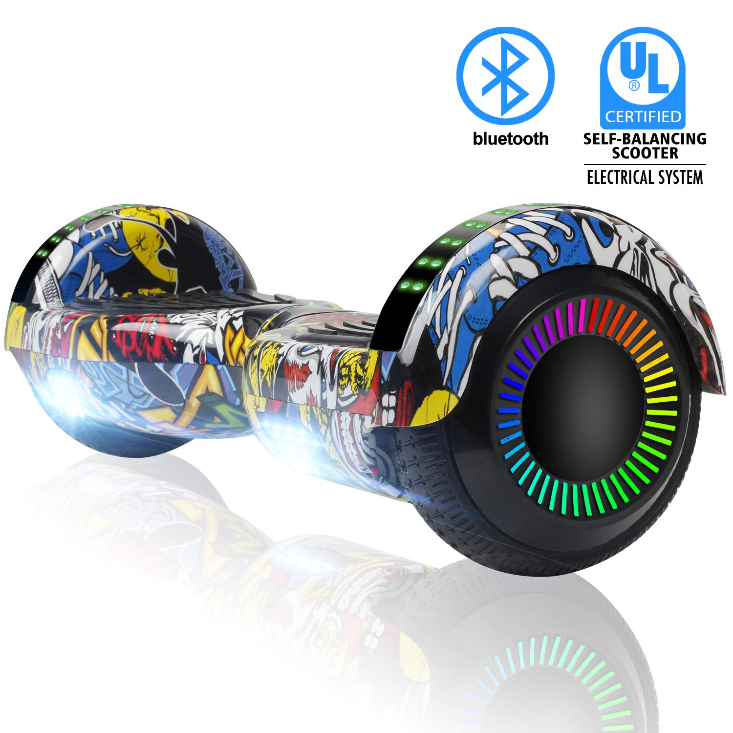 SWEETBUY Hoverboard Two-Wheel Self Balancing Electric Scooter UL 2272 Certified,6.5 inch Self Balancing Scooter with Carry Bag