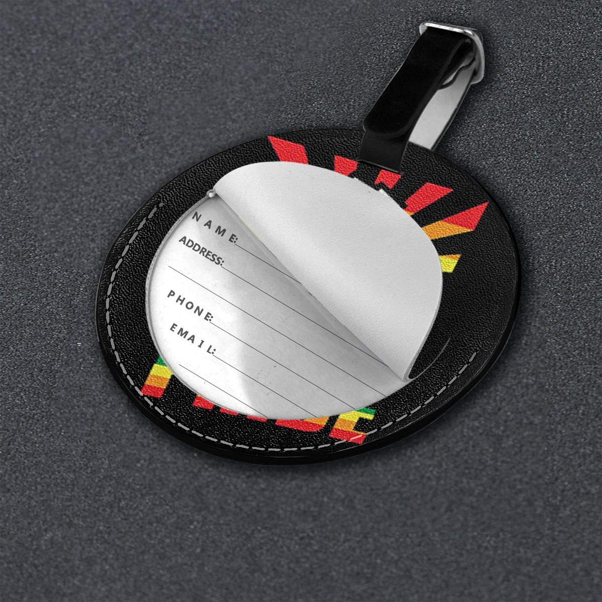 Free-2 LGBT Gay Pride Pride Fist Luggage Tag 3D Print Leather Travel Bag ID Card