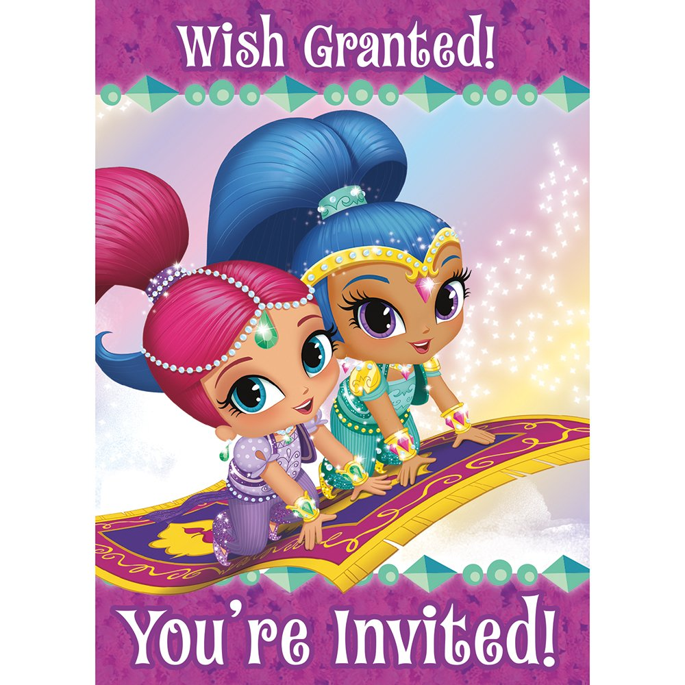 Amazon.com: Shimmer and Shine Invitations, 8ct: Toys & Games