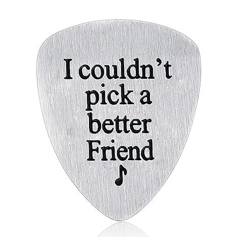 Nimteve regalo de cumpleaños para amigo, púa de guitarra ...