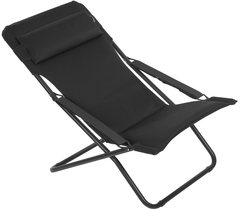 Lafuma Chaise longue, Pliable et réglable, Transabed, Air Comfort, Couleur   Acier, LFM2853-6135 2d59d5be2ac5