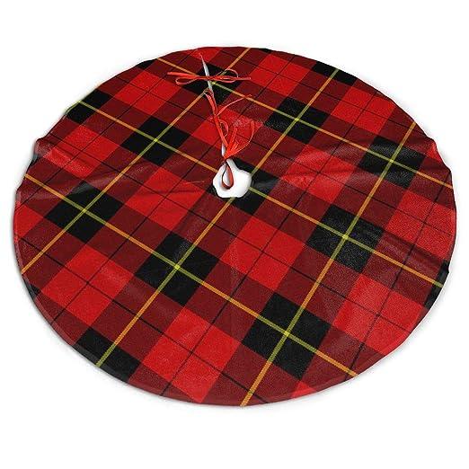 WU4FAAR - Falda para árbol de Navidad, diseño de tartán, Color ...