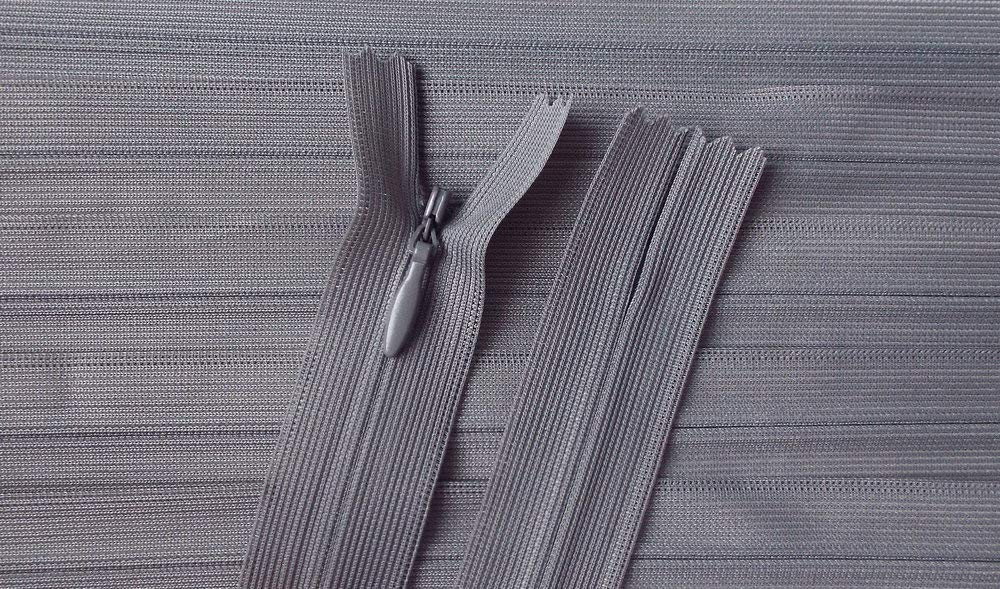 Reißverschluss Kopfkissen Bettwäsche schließbare Länge 80 cm dunkelbraun