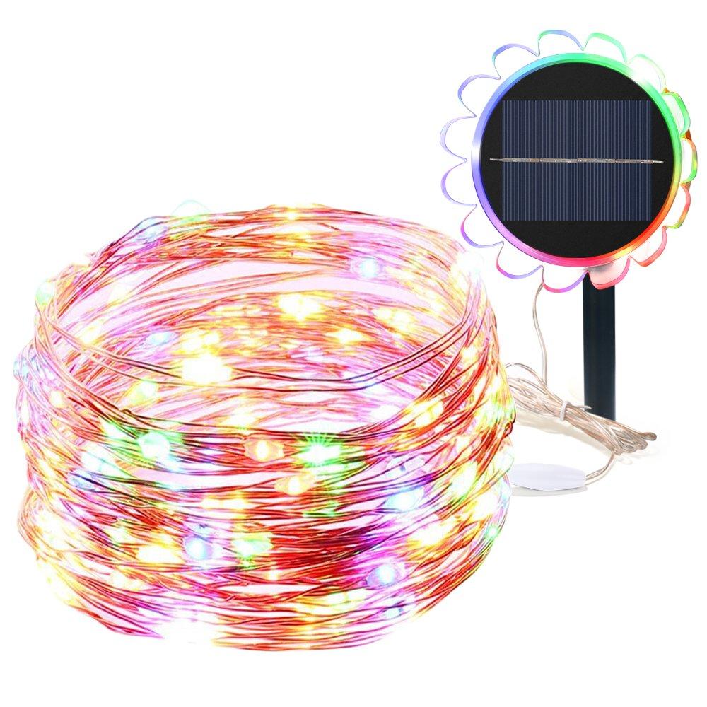 Luces Navidad Exterior GRDE LED DIY Solar Cobre String Lights Impermeable IP