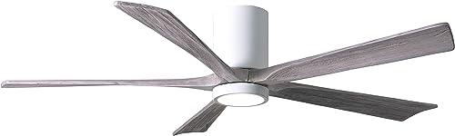 Matthews IR5HLK-WH-BW-60 Irene 60″ Outdoor Hugger Ceiling Fan