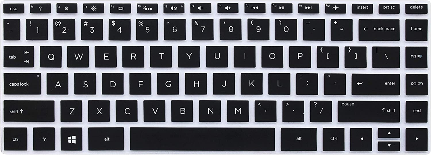 """JuYuish Keyboard Cover Compatible for 13.3"""" HP Spectre x360 2-in-1 13-w013dx 13-w023dx 13-w053nr 13-ac013dx 13-ac023dx 13-ac033dx 13-ac036dx 13-AD 13-AE 13-AF Series Laptop (with Square Corner), Black"""