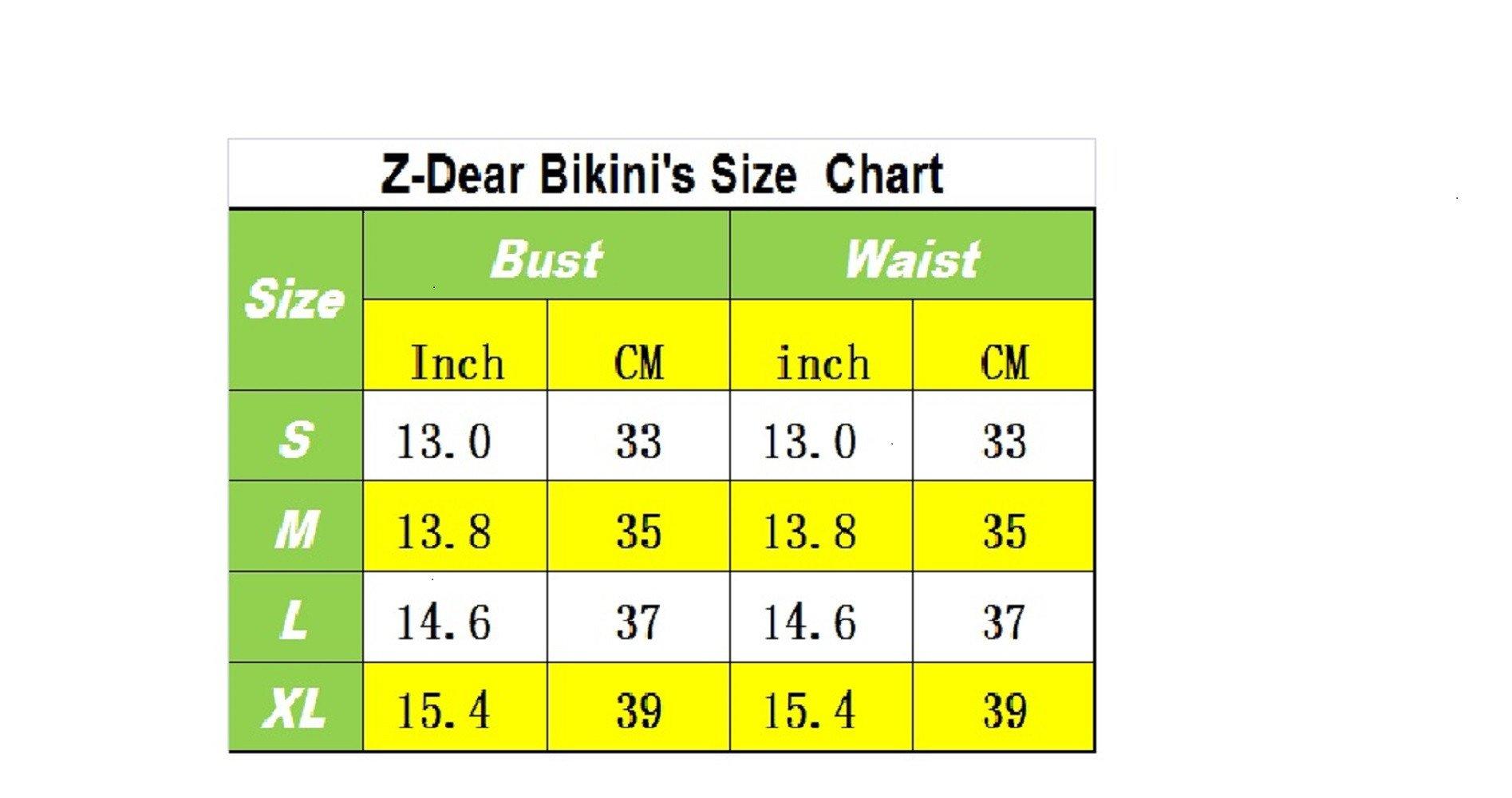 Women's sexy Low waist Bandage Bikini beachwear swimsuit Black-XL by ZD Z-DEAR THE BEST LOVE (Image #4)