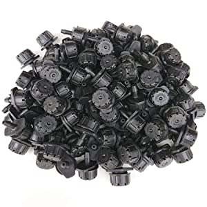 MANSHU 150pcs Adjustable Irrigation Drippers Sprinklers 1/4 Inch Emitter Dripper Micro Drip Irrigation Sprinklers for Flower beds, Vegetable Gardens, Lawn, Herbs Gardens.