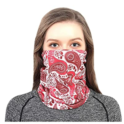 WEISUN Face Cover Magic Scarf Outdoor Headwear Bandana Sports Tube UV Face Cover for Workout Yoga Running Pink: Clothing