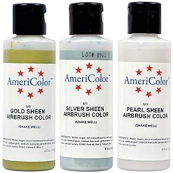 Amazon.com: 3 Color Sheen Pearl Set - 4.5oz Soft Gel Paste Gold ...
