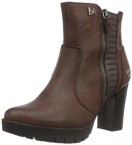 bruno banani Damen Stiefelette Combat Boots, Rot (570 Wine), 40 EU