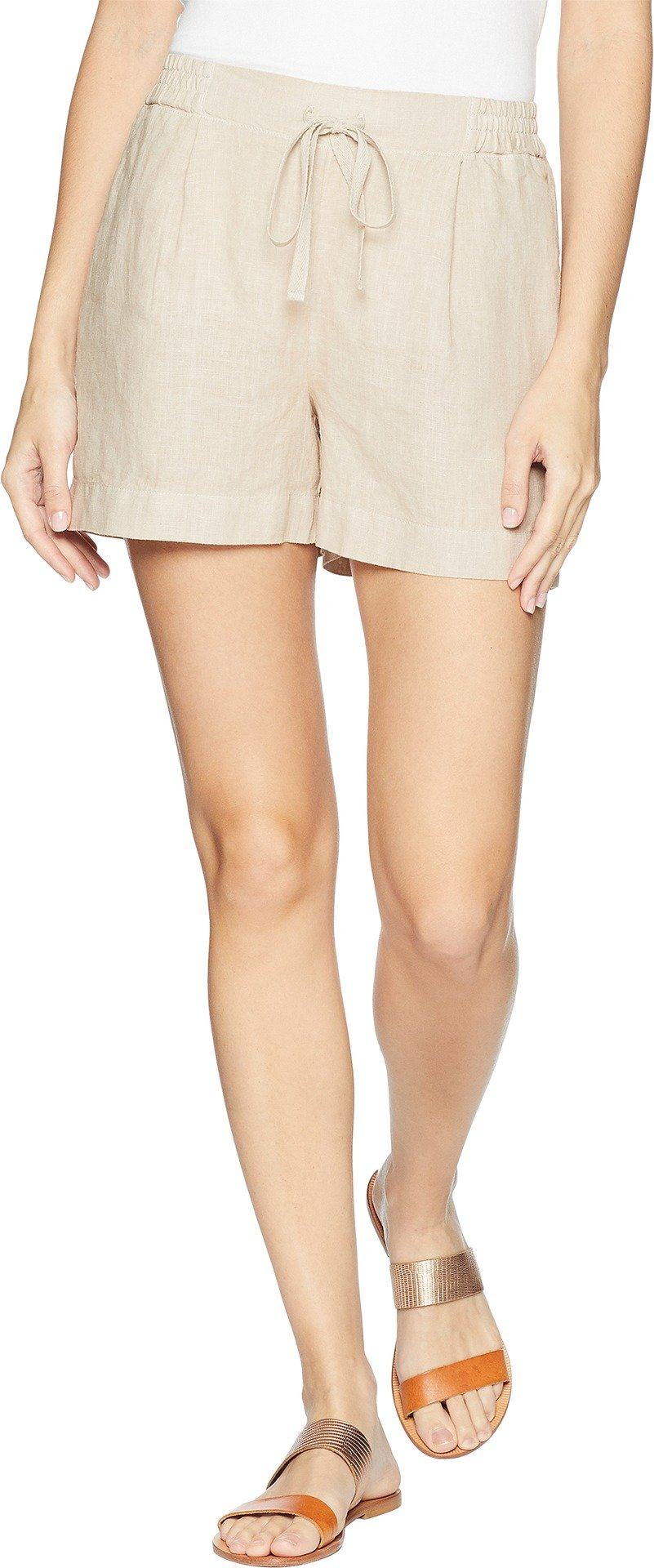 Three Dots Women's Cambria Linen Shorts Sailcloth Large 4