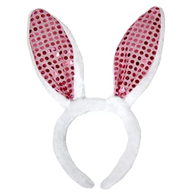 Petitebella Pink Sequin Bunny Ear: Toys & Games
