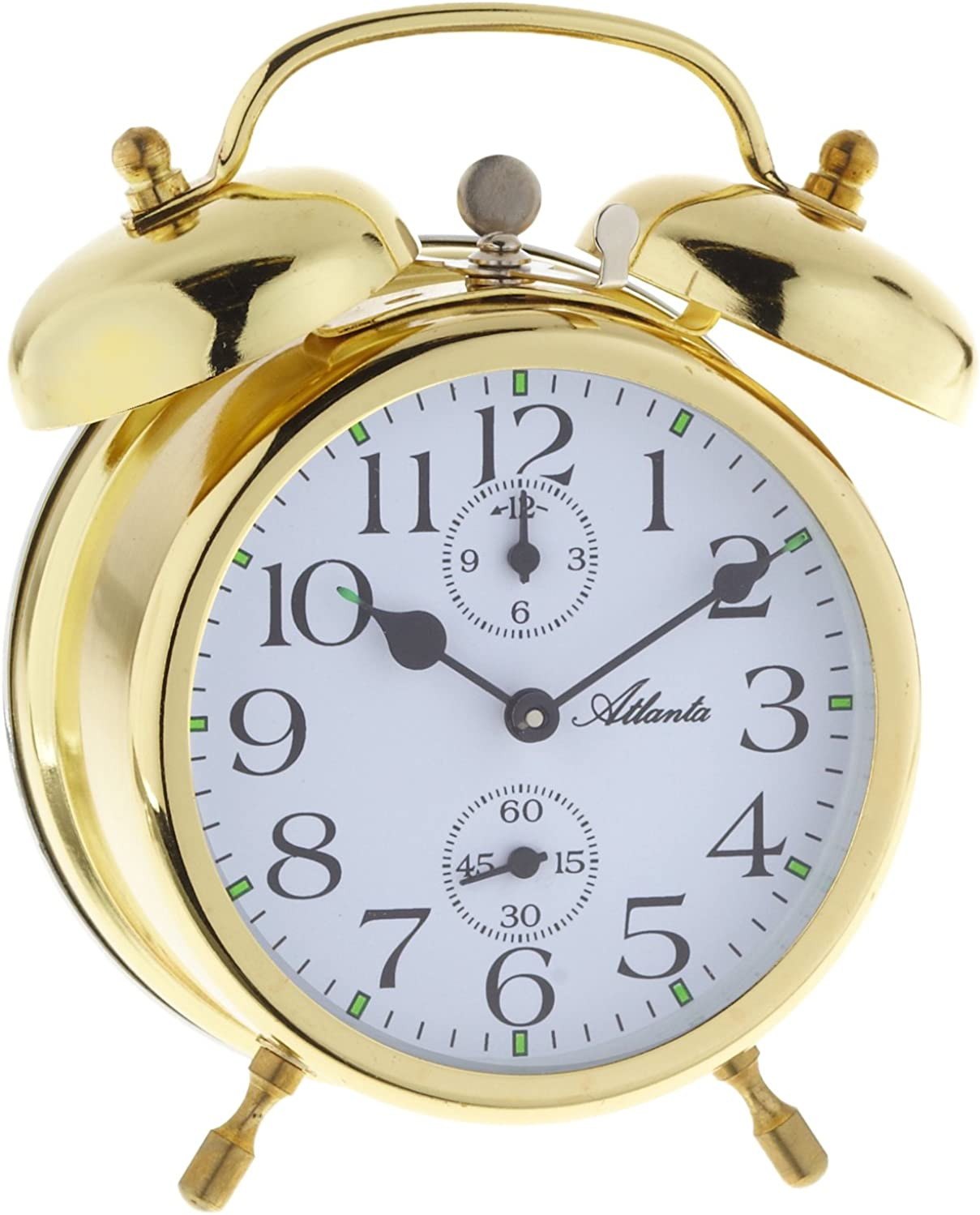 Atlanta Twin Bell Alarm Clock with Luminous Hands Analog 1058 9