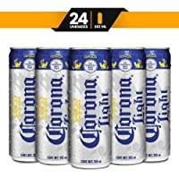 Cerveza Clara Corona Light charola de 24 piezas de 355ml c/u