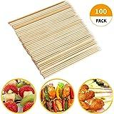 Fu Store Bamboo Skewers, 8 Inch Bamboo Sticks Shish Kabob Skewers,Grill, Appetizer, Fruit, Corn, Chocolate Fountain…