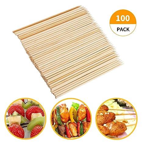 Amazon.com: Fu Store - Pinchos de bambú, 7.9 in, pinchos de ...