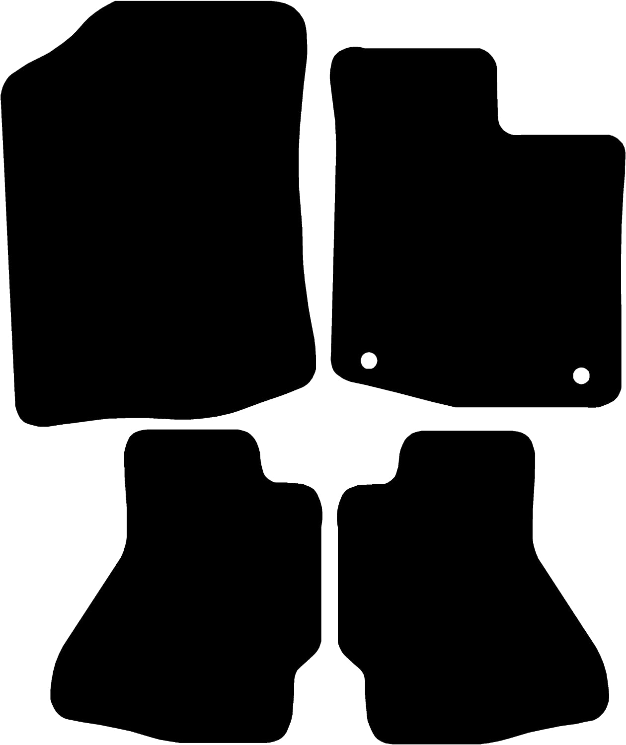Connected Essentials 5058130 Black with Grey Trim Tailored Custom Fit Heavy Duty Automotive Carpet Mat Boot Liner for Toyota Aygo 2005-2011