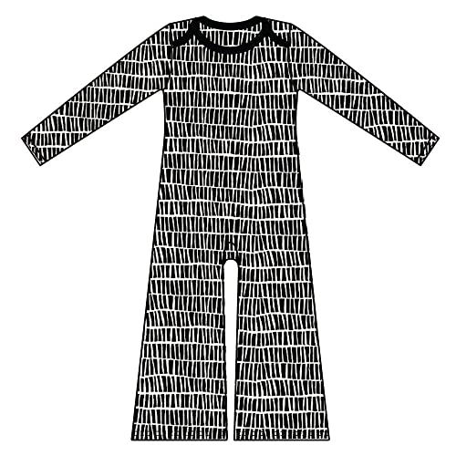 62aee0cd8 Amazon.com  Black   White Long Sleeved Baby Romper All In One ...