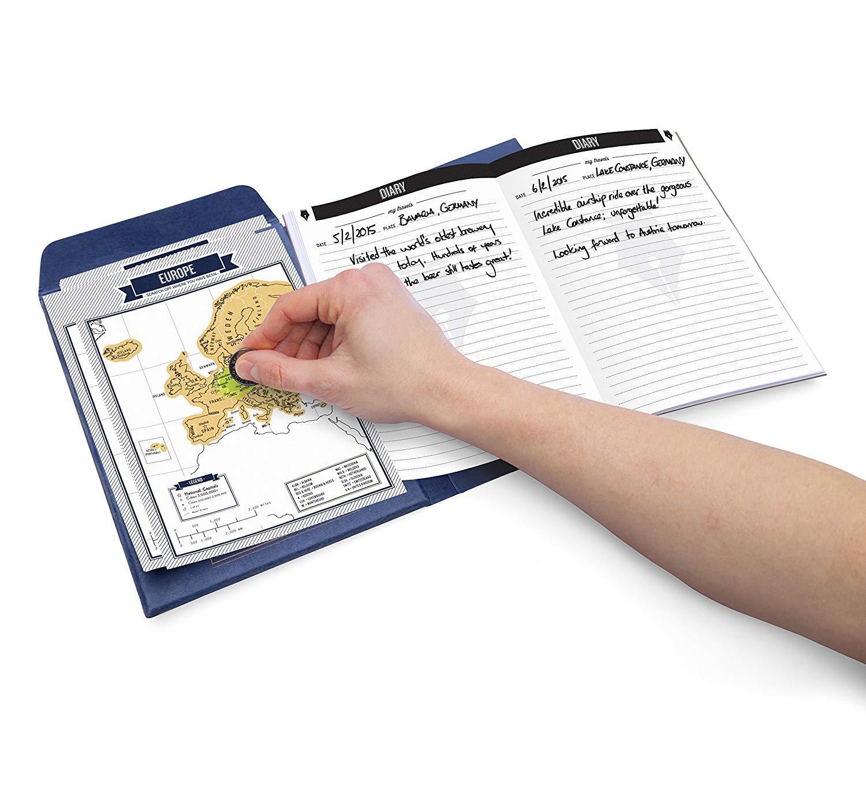 Luckies of London Travelogue Blaue Edition interaktives Reisetagebuch mit Rubbelseiten