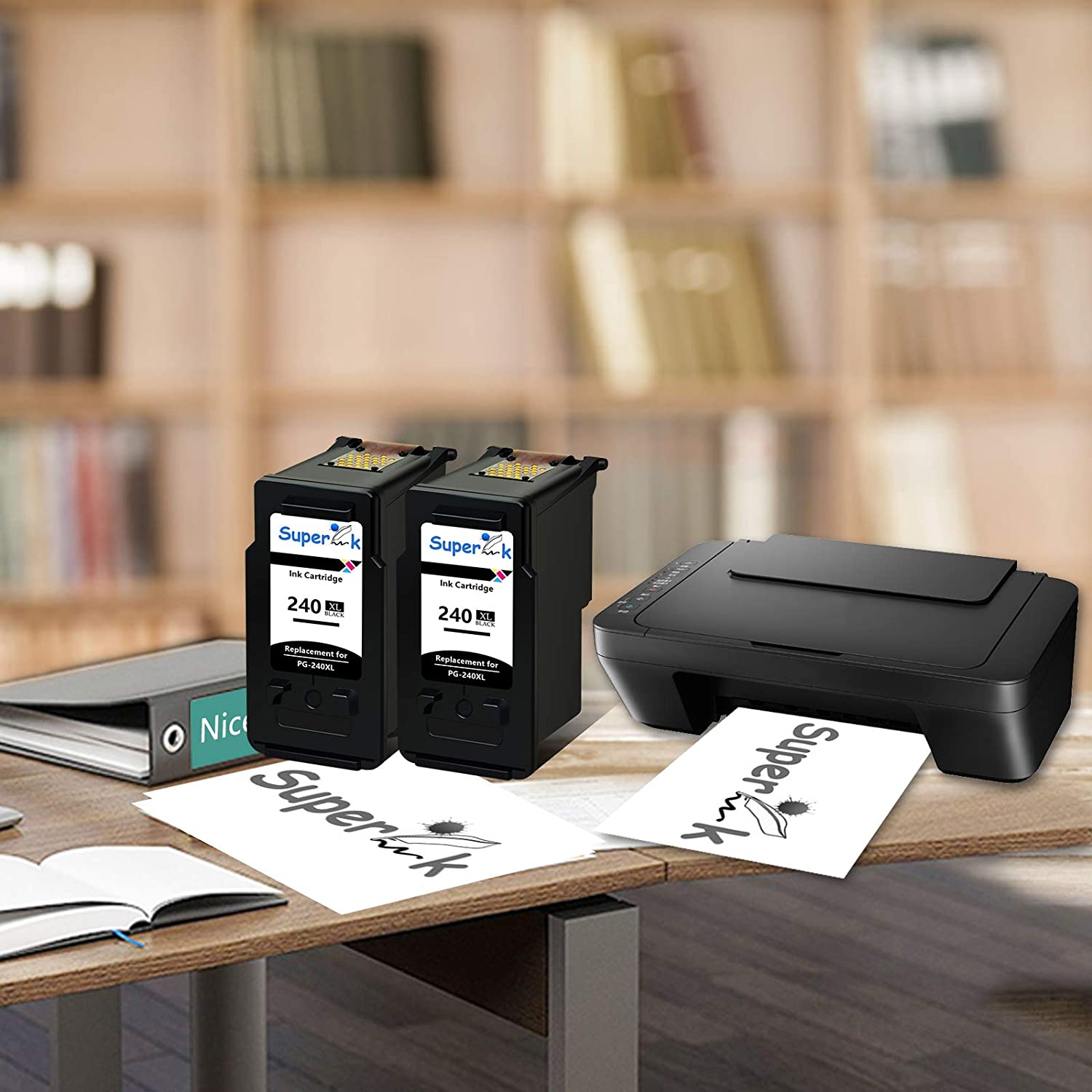 SuperInk High Yield Remanufactured PG-240XL 240XL Ink Cartridges 1 Black Compatible for Canon PIXMA MG3620 MG3520 MG2220 MG3220 MG3522 MX472 MX452 MX522 MX532 MX392 MX432 MX512 Printer