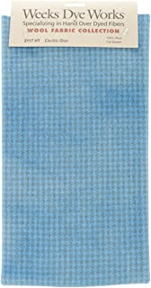 "product image for Wool Houndstooth Fabric Fat Quarter 100% Wool 16""X26"" Cut-Electric Blue"