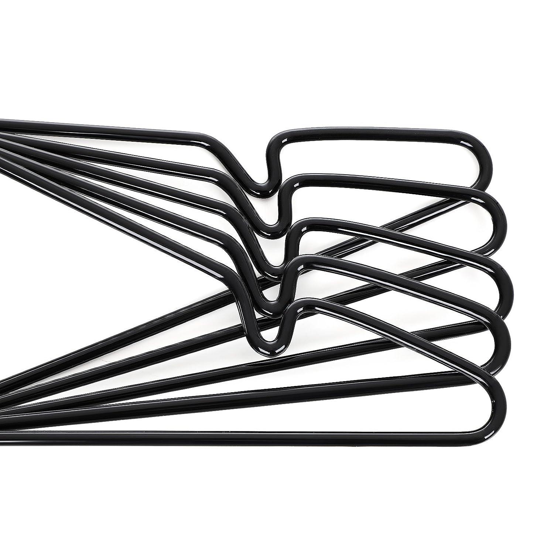 Antideslizantes perchas ropa SONGMICS Perchas de Metal Juego de Perchas 20 Unidades Color Negro  CRI33B-20 Ahorro de Espacio Gancho Giratorio 360/° 4 mm de di/ámetro