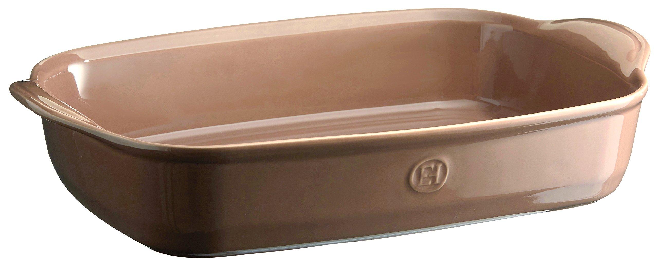 Emile Henry 969654 France Ovenware Ultime Rectangular Baking Dish, 16.5 x 10.6, Oak by Emile Henry