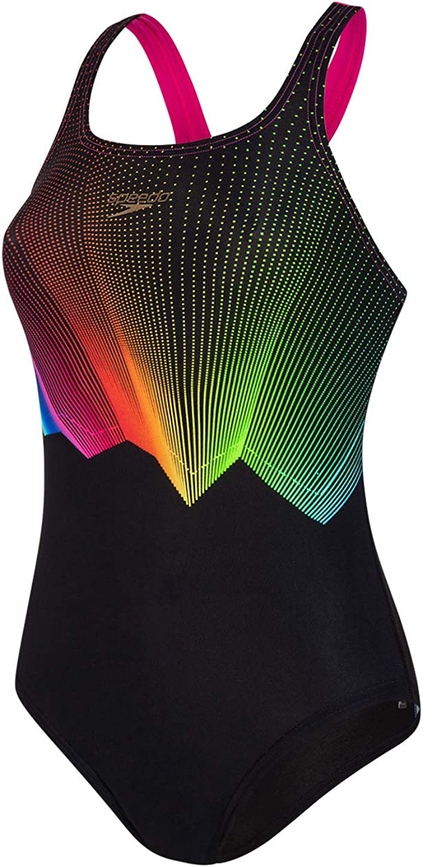 Speedo Womens ColourGlow Digital Medalist Swimsuit//Swimming Costume