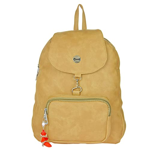 4720b3254757 Buy JG PU Leather Backpack (Beige) Online at Low Prices in India ...
