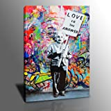 DINGDONG ART- Framed Art Einstein Poster Love is